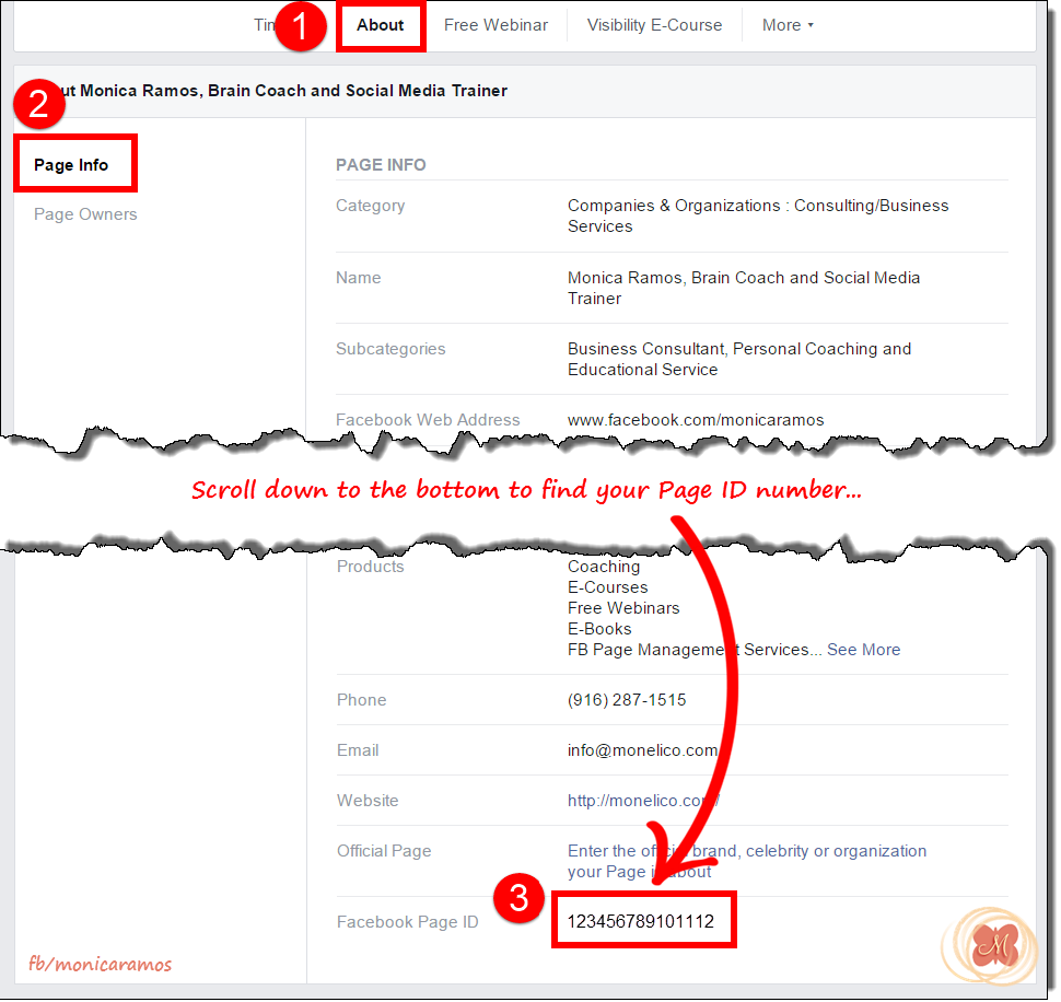 How to find your Facebook Page ID